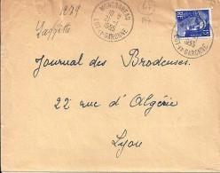 47 - LOT ET GARONNE - MONCRABEAU -  1955/59 - TàD De Type A7 - Postmark Collection (Covers)
