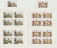 MiNr. 192 - 193  Tschechische Republik: 1998, 9. Okt. Schönheiten Der Heimat: UNESCO-Welterbe. - Tschechische Republik