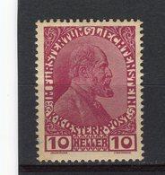 LIECHTENSTEIN - Y&T N° 6* - Jean II - Liechtenstein