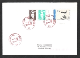 FRANCE '59 BACHANT GA' 1991  1  OBLITERATION - Postmark Collection (Covers)