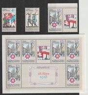 MiNr. 194 - 196  Tschechische Republik: 1998, 28. Okt. 80. Jahrestag Der Gründung Der Tschechoslowakei. - Tschechische Republik