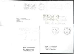 FRANCE '59 BAILLEUL P.P.' 1984/96  5  MARQUES POSTALES Et  OBLITERATIONS - Marcophilie (Lettres)