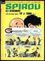 """SPIROU N° 1350 -  Année 1964 - Couverture """"GASTON"""" De FRANQUIN Et """"TIF Et TONDU"""" De WILL. - Spirou Magazine"""