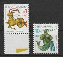 MiNr. 199 - 200  Tschechische Republik: 1998, 18. Nov. Freimarken: Tierkreiszeichen. - Tschechische Republik