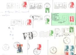 FRANCE '59 BERGUES' 1978/96  20  MARQUES POSTALES Et  OBLITERATIONS - Marcophilie (Lettres)