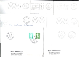 FRANCE '59 BERGUES P.P.' 1987/95  7  MARQUES POSTALES Et  OBLITERATIONS - Marcophilie (Lettres)