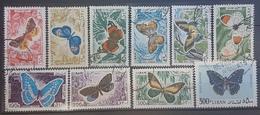 Lebanon 1965 Mi 900-909 Complete Set - Butterflies Issue - Butterfly - Lebanon