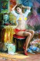 №40.229 Postcard Modern New Konstantin Razumov Beautiful Girl Posing - People