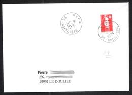 FRANCE '59 BOESCHEPE P.P.' 1995  1  OBLITERATION - Marcophilie (Lettres)