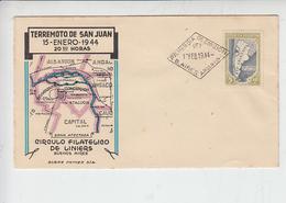 ARGENTINA 1944 - FDC - Yvert 438 - Vittime Terremoto - Altri