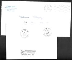 FRANCE '59 BONDUES P.P.' 1989/95  2  MARQUES POSTALES - Marcophilie (Lettres)