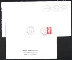 FRANCE '59 BONDUES CENTRE DE DISTRIBUTION' 1996  2  MARQUES POSTALES Et OBLITERATIONS - Marcophilie (Lettres)