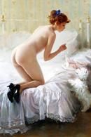 40.212 Postcard Modern Rare New Konstantin Razumov Naked Girl On The Bed - People