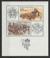 MiNr. 156 - 157 (Block 5) Tschechische Republik / 1997, 24. Sept. Internationale Briefmarkenausstellung PRAGA '98. - Tschechische Republik