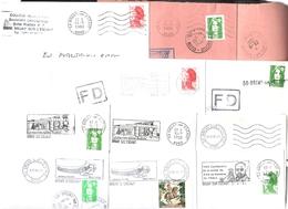 FRANCE '59 BRUAY SUR L'ESCAUT' 1980/95  11  MARQUES POSTALES Et OBLITERATIONS - Marcophilie (Lettres)