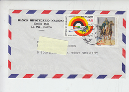 BOLIVIA  1976 - Yvert 527-540 - Lettera Per West Germany - Bolivia