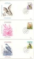 """BELG.1987 2244 2245 & 2246 - FDC - Europees Jaar Van Het Milieu - Natuurbescherming """"Buzin"""" (album 105) - FDC"""