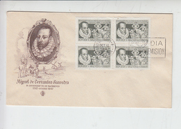 ARGENTINA 1947 - FDC  - Yvert 489 - Cervantes - - FDC