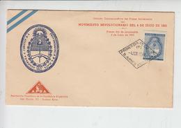 ARGENTINA 1944 - FDC  - Yvert 442 -  Movimiento Revolucionario 4/6/43 - FDC