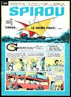 """SPIROU N° 1334 -  Année 1963 - Couverture """"GASTON"""" De FRANQUIN Et """"TIMOUR"""" De SIRIUS. - Spirou Magazine"""