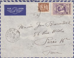 LETTRE INDOCHINE. 22 12 38. PAR AVION. HANOI POUR PARIS - Indochina (1889-1945)