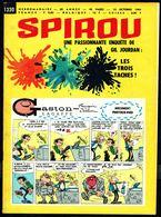 """SPIROU N° 1330 -  Année 1963 - Couverture """"GASTON"""" De FRANQUIN. - Spirou Magazine"""