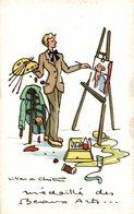 ILLUSTRATION SIGNEE LILIAN DE CHRISTEN PEINTRE MEDAILLE DES BEAUX ARTS - Künstlerkarten
