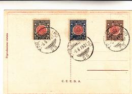 Annessione Della Venezia Giulia, Serie Completa Filatelica 05-06-1921 Su Cartolina Commemorativa - Marcophilia
