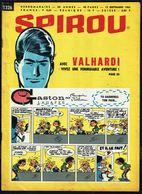 """SPIROU N° 1326 -  Année 1963 - Couverture """"GASTON"""" De FRANQUIN Et """"VALHARDY"""" De JIGE. - Spirou Magazine"""
