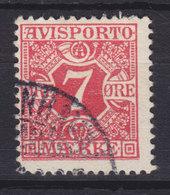 Denmark Verrechnungsmarke 1907 Mi. 3X    7 Øre Avisporto - Port Dû (Taxe)