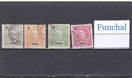 Portugal  Funchal  -  Lote  4  Sellos Diferentes  -  10/8994 - Funchal