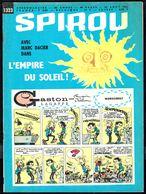 """SPIROU N° 1323 -  Année 1963 - Couverture """"GASTON"""" De FRANQUIN. - Spirou Magazine"""