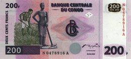 Congo Dem Rep 200 Francs 2000 P-95 UNC - Congo