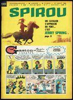 """SPIROU N° 1322 -  Année 1963 - Couverture """"GASTON"""" De FRANQUIN Et """"JERRY SPRING"""" De JIGE. - Spirou Magazine"""