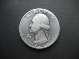 United States ¼ Dollar 1944  D Washington Silver Quarter - 1932-1998: Washington
