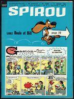 """SPIROU N° 1317 -  Année 1963 - Couverture """"GASTON"""" De FRANQUIN Et """"BOULE Et BILL"""" De ROBA. - Spirou Magazine"""