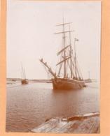 Voilier - Photo ! C.1900 Trois Mats Courseulles Sur Mer - Bateaux