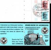 Luxemburg MH 1 R. Schuman Blau Used Gestempelt - Booklets