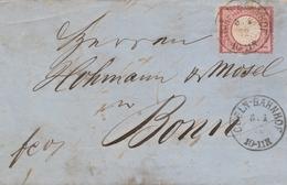 Allemagne Lettre Coeln-Bahnhof 1872 - Briefe U. Dokumente