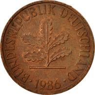 Monnaie, République Fédérale Allemande, 2 Pfennig, 1986, Karlsruhe, TTB - [ 7] 1949-… : FRG - Fed. Rep. Germany