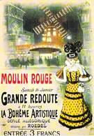 PUB PUBLICITE -NUGERON N 13 MOULIN ROUGE  Grande REDOUTE BOHÊME ARTISTIQUE Dessin ROEDEL (Cabaret Spectacle)*PRIX FIXE - Publicité