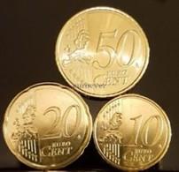 Nederland     2018     10 - 20 En 50 Cent     UNC Uit De Rol  UNC Du Rouleaux !!! - Pays-Bas