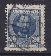 Denmark 1907 Mi. 55    20 Øre König Frederik VIII. Paper Perforation ERROR Variety Big TEETH !! - Abarten Und Kuriositäten