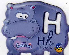 Magnets Magnet Alphabet Gervais Hippopotame H - Lettres & Chiffres