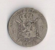 BELGIE - 1 Fr. - LEOPOLD II - 1887 - 1865-1909: Leopold II