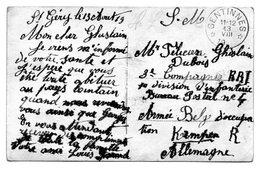 Oblitération De GENTINNES (fortune) Sur CF En Franchise SM Vers Militaire En Allemagne - Marcophilie