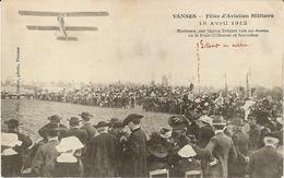 56 Morbihan Vannes Rare Fêtes D'aviation Militaire Avril 1912 Moineau Sur Biplan Breguet - Vannes