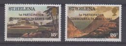 St. Helena 1982 Commonwealth Games 2v ** Mnh (40929) - Sint-Helena