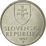 Monnaie, Hongrie, 5 Forint, 1993, Budapest, TTB, Nickel-brass, KM:694 - Slovaquie