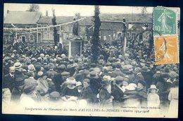Cpa Du 08 Auvillers Les Forges Inauguration Du Monument Des Morts      SEPT18-37 - France